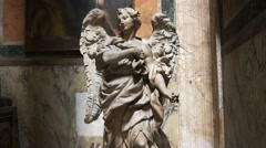 Statue of the archangel gabriel in the pantheon, rome, Stock Footage