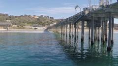 AERIAL: San Diego La Jolla Scripps Pier Stock Footage