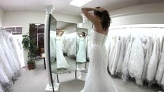 Wedding dress shopping Stock Footage