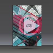 Abstract dynamic geometric background Stock Illustration