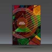 Abstract dynamic geometric background - stock illustration
