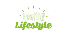 Healthy lifestyle design, Video Animation Stock Footage