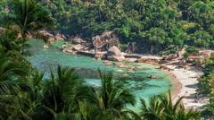 Tropical laguna beach Stock Footage