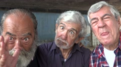 Elderly Men Acting Silly - stock footage