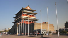 Wide view of the qianmen gate, beijing Stock Footage