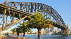 Sydney Harbour Bridge, Milsons Point in 4k Stock Footage