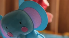 Toys Hanging In Baby Mobile Stock Footage
