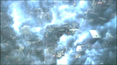 Looking Down On Storm Over City of Toronto Stock Footage