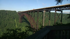 Green River Gorge Bridge West Virginia Stock Footage