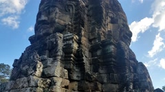 Bayon The Temple of Faces at the center of Angkor Thom Stock Footage