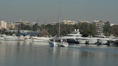 Yachts In The Marina View Stock Footage