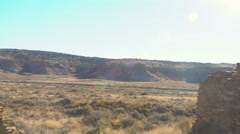 Tracking Shot of Native American Ruin -Pan Left- Stock Footage