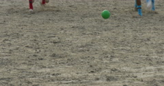 Players polo game close up Stock Footage