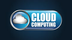Cloud computing design, Video Animation - stock footage