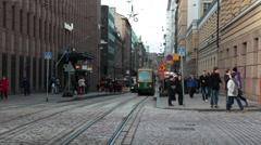 Aleksanterinkatu street near the Senate Square in Helsinki city. Finland Stock Footage