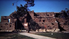 1972: Native American Indian southwestern style pueblo building. Stock Footage