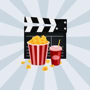 Cinema vector illustration. - stock illustration