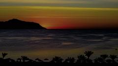 Sunrise. Red Sea. Sinai peninsula Stock Footage