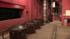 A room of the museum of brandy Stock Footage