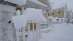 One of the gate of the Palmse manor with snow Stock Footage