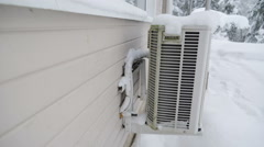 The heater attached on the wall of the house Stock Footage