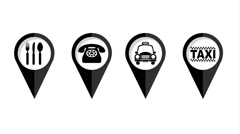 Gps icon design, Video Animation Stock Footage