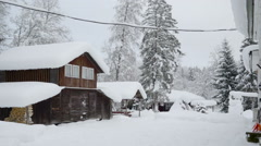The landscape view of the winter season in Scandinavia - stock footage