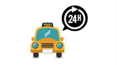 Taxi service design, Video Animation Stock Footage