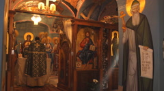 Russian ortodox church  Stock Footage