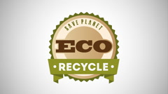 Recycle icon design, Video Animation Stock Footage