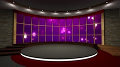 News TV Studio Set 110 - Virtual Green Screen Background Loop-4K Stock Footage