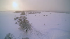 The shot from above using the copter in snow Stock Footage