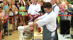 Molecular gastronomy show Stock Footage