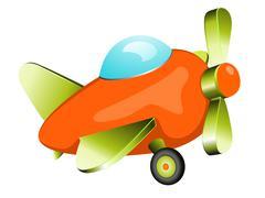 Retro plane toy - stock illustration