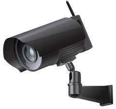 Video surveillance sign. CCTV Camera. - stock illustration