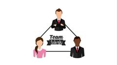 Teamwork icon design, Video Animation - stock footage