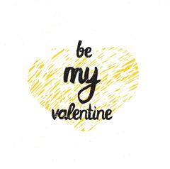 Be my valentine. Trendy poster for Happy Valentine's Day, 14 february Stock Illustration