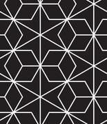 Vector seamless pattern. Modern stylish line, hexagon geometric background - stock illustration