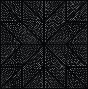 Vector abstract geometric seamless pattern. Repeating gradation in black and  - stock illustration
