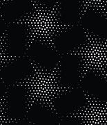 Vector abstract geometric seamless pattern. Repeating stars gradation in blac Stock Illustration