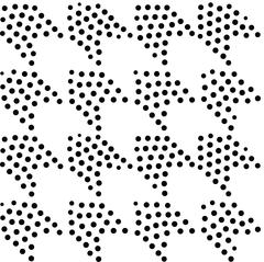 Vector abstract geometric seamless pattern. Repeating gradation in black and  Stock Illustration