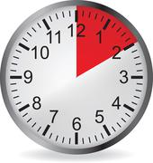 Clock with red 10 minute deadline Stock Illustration