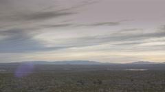 Medium Pan R of New Mexico Desert at Sunrise Stock Footage
