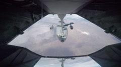 USA IDAHO, NOVEMBER 2015, Aircraft Air Refueling - stock footage