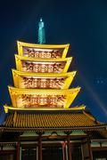 Sensoji-ji Temple in Asakusa Japan Stock Photos