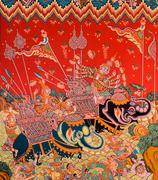 Thai mural painting art Stock Photos