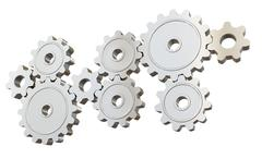 Set of mechanical gears Piirros