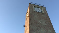 The bell tower of Lu Monferrato Stock Footage
