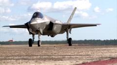 FLORIDA USA, DECEMBER 2015, US Air Force F35 Lightning Aircraft Roll Along Roll Stock Footage