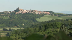 A typical village in the province of Alessandria Stock Footage